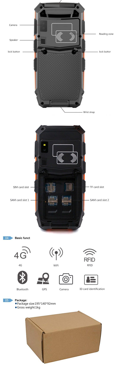 Polegada Terminais Móveis Wifi Bluetooth Barcode Scanner