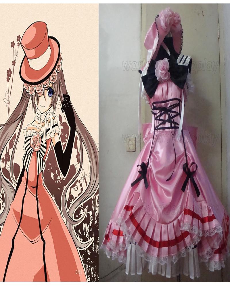 Doprava zdarma Black Butler Kuroshitsuji Ciel Phantomhive Cosplay šaty na míru vyrobené pro Halloween a Vánoce