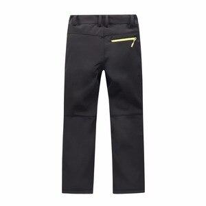 Image 5 - Marca impermeável à prova de vento meninos meninas calças crianças outerwear quente calças de escalada esportiva para 4 14 anos de idade