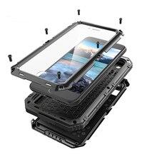 금속 알루미늄 먼지 충격 갑옷 전화 케이스 아이폰 12 미니 11 프로 X XS 최대 XR 7 8 플러스 방수 IP68 무거운 견고한 커버