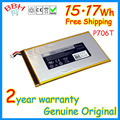 Para dell Venue7 P706T / 8 T02D 3730 3830 tablet 3.7 V 15.17Wh batteria baterias AKKU