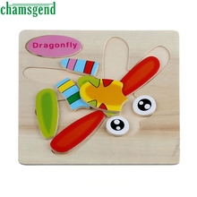 High Quality Wooden Dragonfly Puzzle Educational Developmental Baby Kids Training Toy Aug24