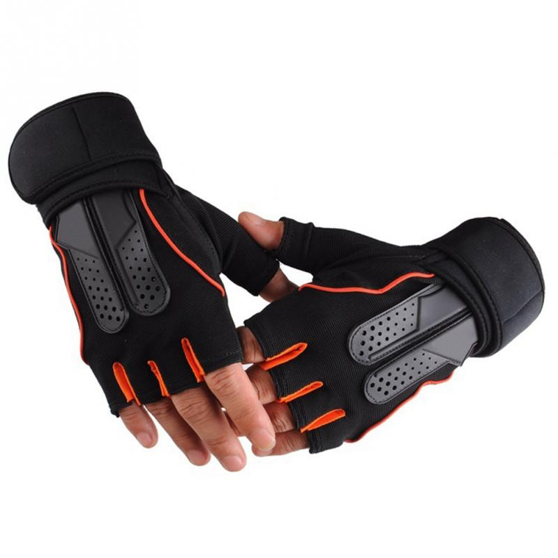 Gym Fitness Gloves Training Weight Lifting Dumbbell Sports Outdoor Sports Working Half Finger Gloves