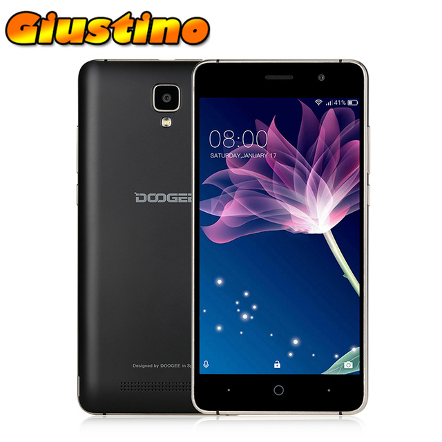 Original Doogee X10 Smartphone 3360mAh MTK6570 Dual Core 5.0 Inch Android 6.0 Metal Frame RAM 512M ROM 8GB GPS 3G Cellphone