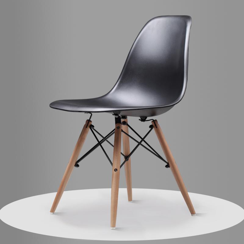 Скандинавский обеденный стол и стулья, современный минималистичный креативный компьютерный офисный стул, повседневный домашний пластиковый кофейный стул - Цвет: Style 4