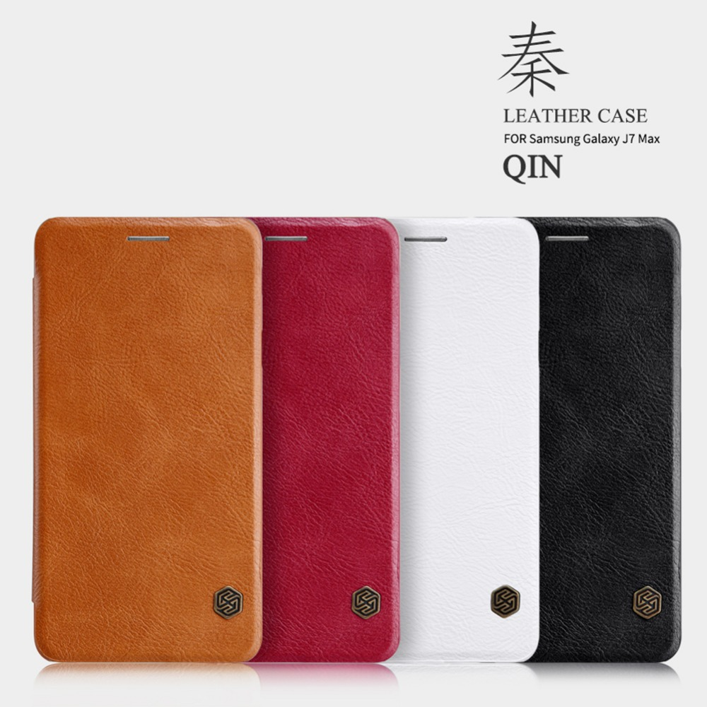 Nillkin Mobile Phone Bag Case For Samsung Galaxy j7 Max G615 PU Leather Ultra Flip Case Card Holder Stand Cover Case