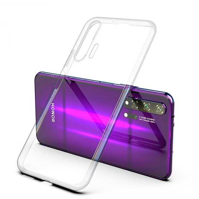 Clear Silicone Case For Honor 20 Case 3D Laser Plating Soft TPU Bright Crystal Back Cover For Huawei Honor 20 Pro Phone Cases