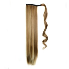 Luxury for Braiding 24inch 60cm Straight Drawstring Ponytail Hairpieces Synthetic Hair Extensions 15 colors available