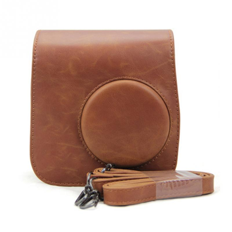Leather Camera Shoulder Strap Bag Protect Case Pouch For Fujifilm Instax Mini 8 cases Small Compact Camera Backpack