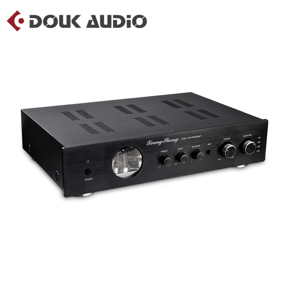 New Version Pga2311 Preamplifier 4 Way Remote Volume Controller Hifi Xiangsheng 728a 12at712au7 Vacuum Tube Pre Amplifier Stereo Preamp Audio Processor