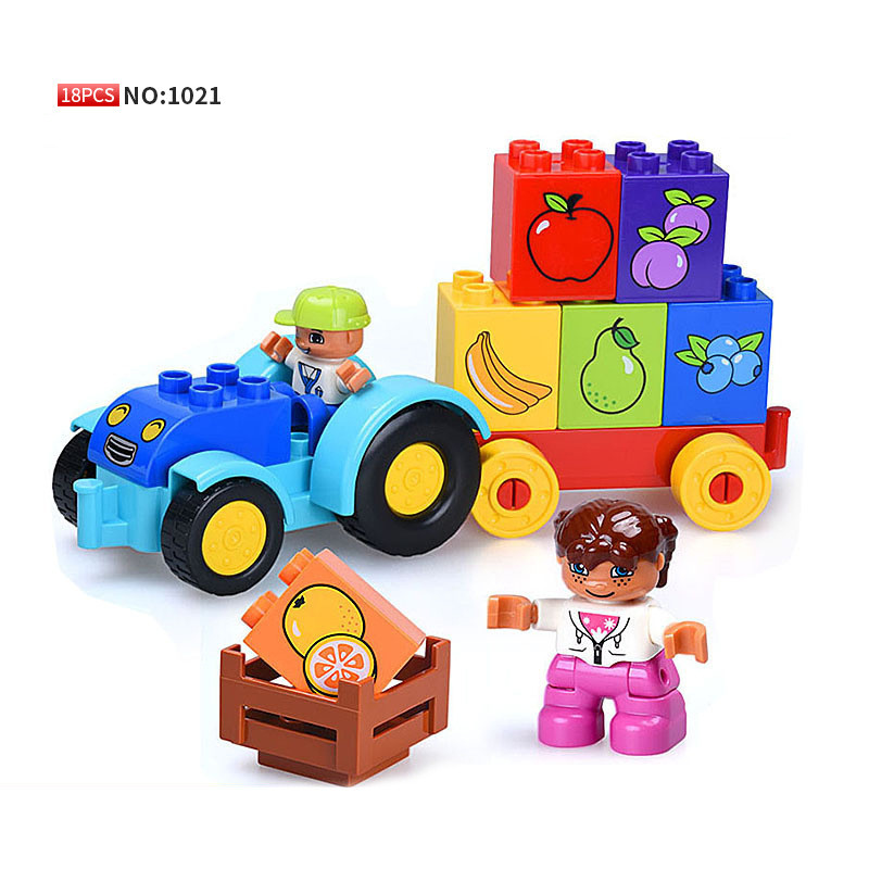 My First Tractor Set Model Building Blocks Bricks Toys for Baby Children Compatible With Legoingly Duploed 10615 Christmas GiftsMy First Tractor Set Model Building Blocks Bricks Toys for Baby Children Compatible With Legoingly Duploed 10615 Christmas Gifts