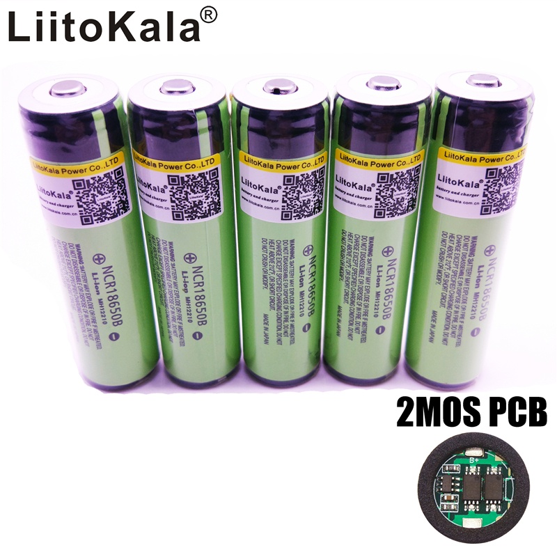 2017 New  LiitoKala For panasonic 18650 3400mAh battery 3.7V Li-ion Rechargebale battery PCB Protected+Free Shopping varicore new original 18650 ncr18650b rechargeable li ion battery 3 7v 3400mah for panasonic flashlight use free shipping