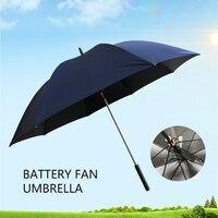 Summer cool creative fan umbrella, sun protection rain special summer umbrella