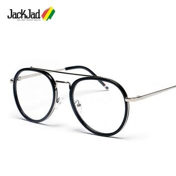 JackJad Fashion Men Women Quality Vintage Aviation Style Plain Glasses Brand Eyewear Frame UV Radiation Protection Glasses Frame