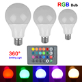 Cheapest RGB LED Bulb E27 3W 10W Remote Control RGB LED Lamp Spot light Bulb 16 Color Change  Lampada LED Luz A65 A70 A80