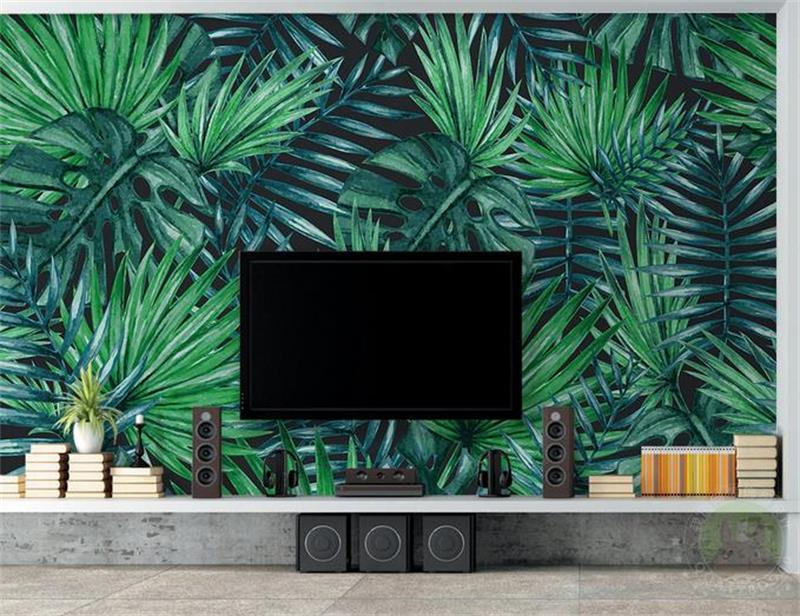 3d Livingroom Wallpaper Custom Mural Photo Simple Tropical