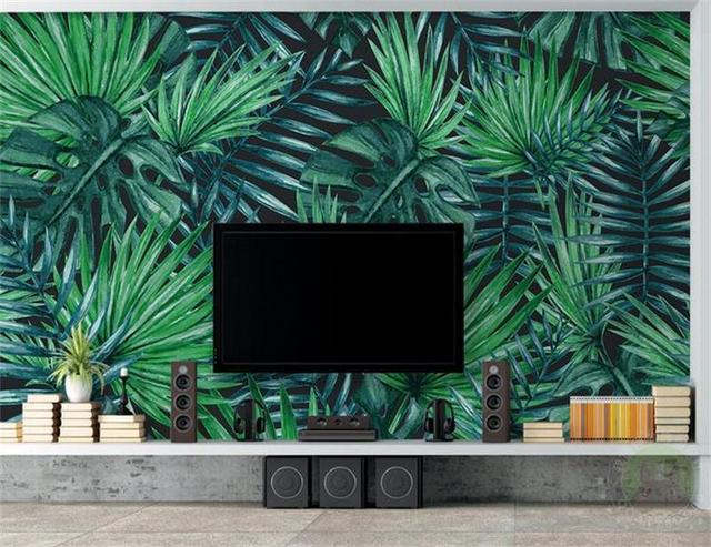 3d Room Wallpaper Custom Mural Photo Simple Tropical Plants Painting  Picture 3d Wall Murals Non