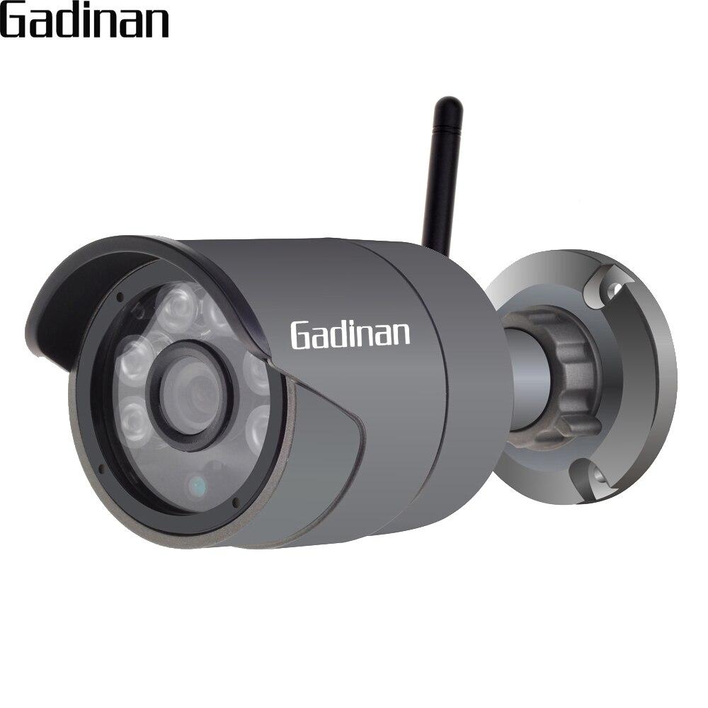 GADINAN Outdoor Waterproof Bullet IP Camera 720P/960P H.264+ ONVIF AP Wifi Wireless Surveillance Night Vision Hi3518EV200 XMEye wistino 1080p 960p wifi bullet ip camera yoosee outdoor street waterproof cctv wireless network surverillance support onvif