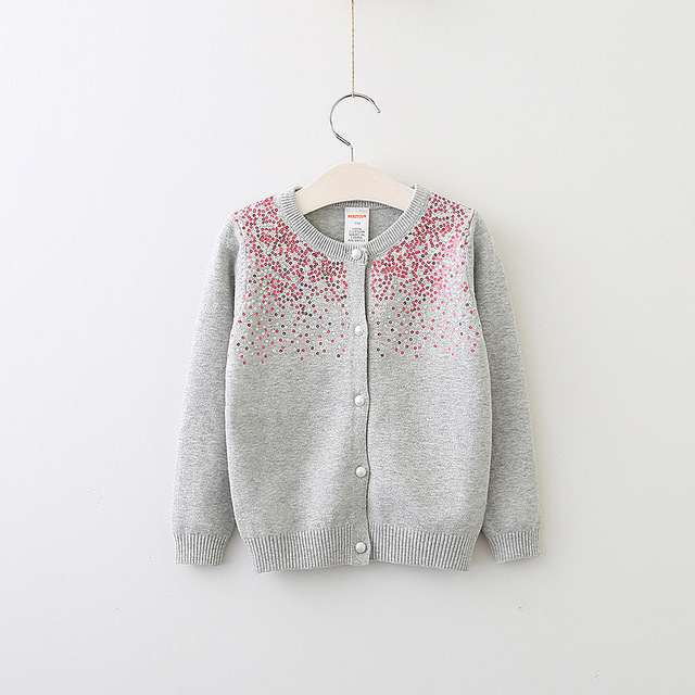 7ab6434d213b Everweekend Girls Sequins Dots Sweater Cardigans Candy Color Knitted ...