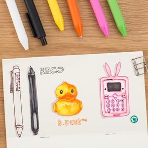 Image 4 - 20 개/몫 KACO 순수 시리즈 ABS 매트 젤 펜 패션 캔디 컬러 서명 젤 펜 학생 편지지 Office 학교 용품에 대 한