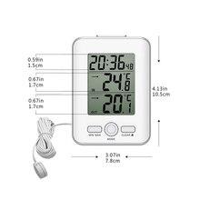 Проводной цифровой датчик температуры Зонд термометр Крытый открытый ЖК-метр Будильник Повтор часы MJJ88