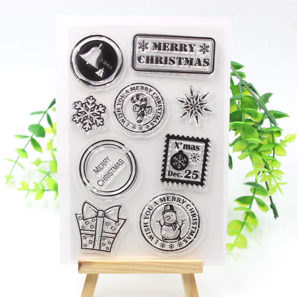 KSCRAFT Christmas Tags Transparent Clear Silicone Stamps for DIY Scrapbooking/Card Making/Kids Crafts Fun Decoration Supplies