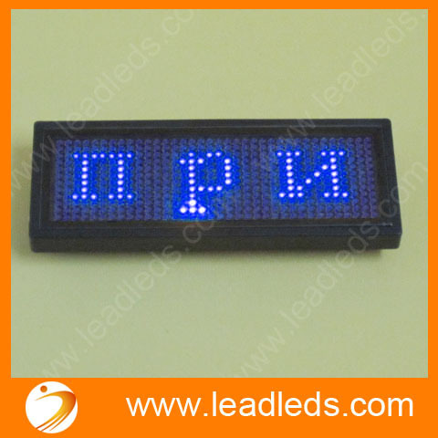 2 Sets/lot  Blue Led Badge Mini Display Include Software And USB Cable Rolling Message