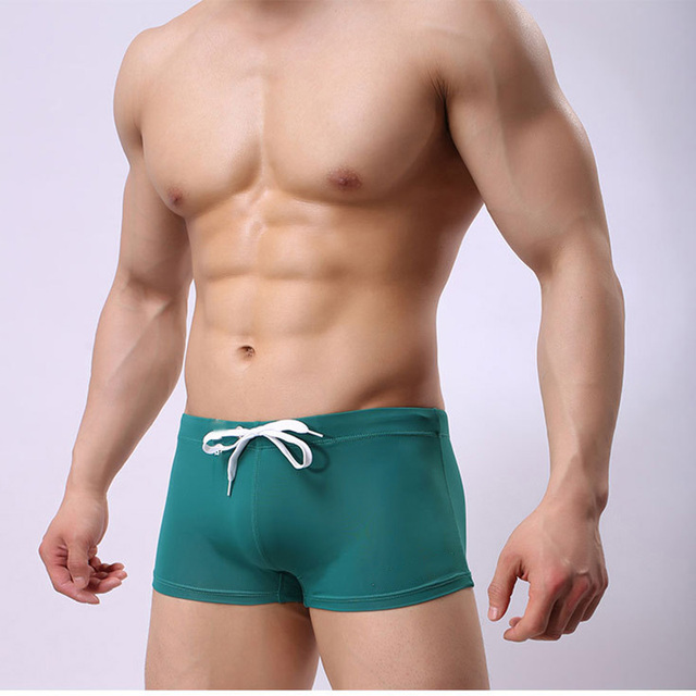 Summer Swimsuit Men Swim Trunks Breathable Boxer Shorts Quik Dry Sports Wear Briefs Adjustable Man Short Pants Beach Surf
