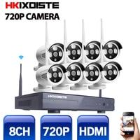 CCTV System 720P 8CH HD Wireless kit Night Vision IP Camera wifi CCTV Camera kit Home Security System video Surveillance 1.0MP