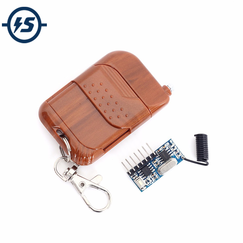 RF 433Mhz Transmitter Receiver Relay Module Universal Wireless Remote Control Switch Controller DC 2.5V-5V