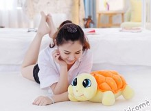 middle size lovely turtle doll orange plush turtle toy beautiful turtle toy gift doll about 45cm