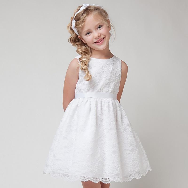 8d57bfda206e Las muchachas de flor del cordón vestido de fiesta verano 5 7 años  infantiles princesa trajes moda niños ropa niño niña niños ropa Tutu en  Vestidos de Mamá ...
