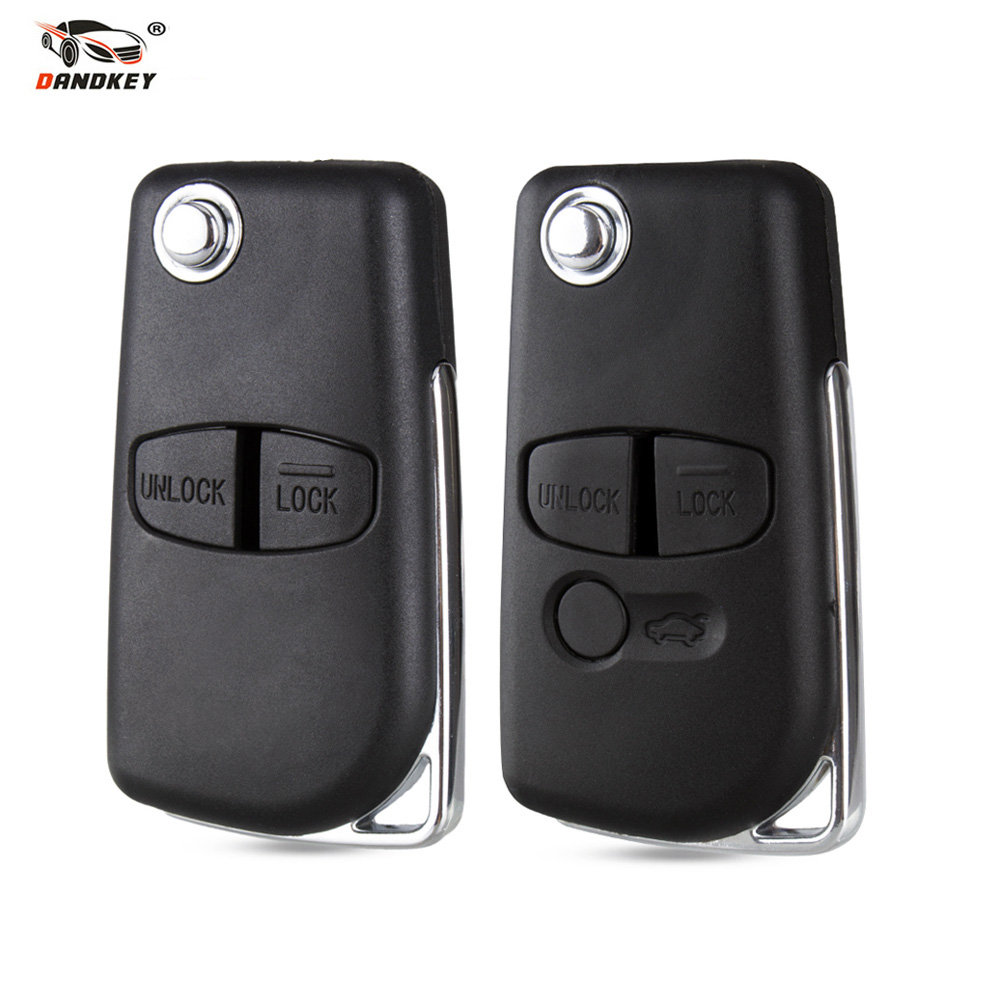 Dandkey 2 3 Buttons Modified Car key Case Shell For Mitsubishi Lancer ASX Grandis Evolution Outlander LANCER-EX Left/Right Blade(China)