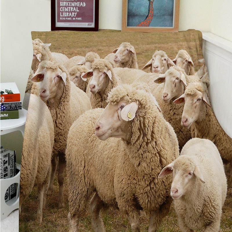 Super Soft Decken Komfort Plsch Maschine Waschen Schne Schaf Ziege Schlafsofa Werfen Cobertor Kinder Erwachsene Decke