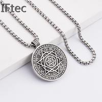 Box Foxtail Chain Star Of David Pendant Necklaces Hexagram Necklace 316l Stainless Steel Male Female Boutique
