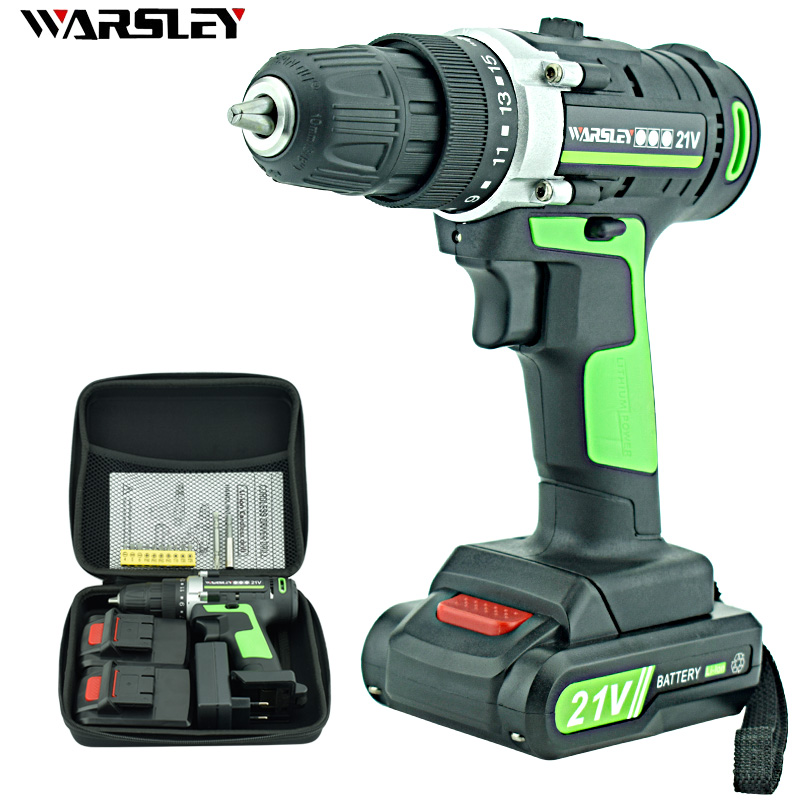 21V Electric Screwdriver Lithium Battery Rechargeable Parafusadeira Furadeira Multi-function Cordless Electric Drill Power Tools xltown 12 16 8 21v cordless lithium electric drill with 2 battery multi function rechargeable electric screwdriver power tools