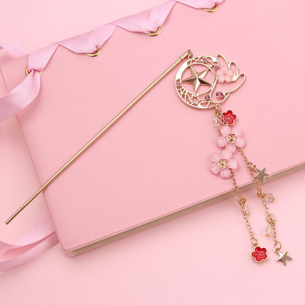 sailor moon card captor cardcaptor sakura wing hairpins Kanzash jewelry