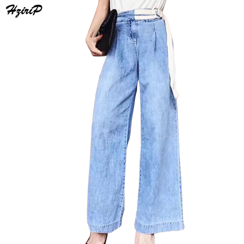 Hzirip Plus size Mom Jeans Loose Casual High Waist Wide Leg Denim Pants 2017 Autumn New Women Bottom Street Straight Jeans Femme women jeans autumn new fashion high waisted boyfriend street style roll up bottom casual denim long pants sp2096