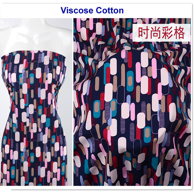 4cb1dbcec9 US $9.42 14% OFF|poplin viscose printed cooling dress shirt fabric spun  rayon printed pajamas children blanket fabric-in Fabric from Home & Garden  on ...