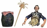 Movie Alien Aredator Half Body Bishop Queen Attacks PVC Action Figure Collectible Model Toy 10CM