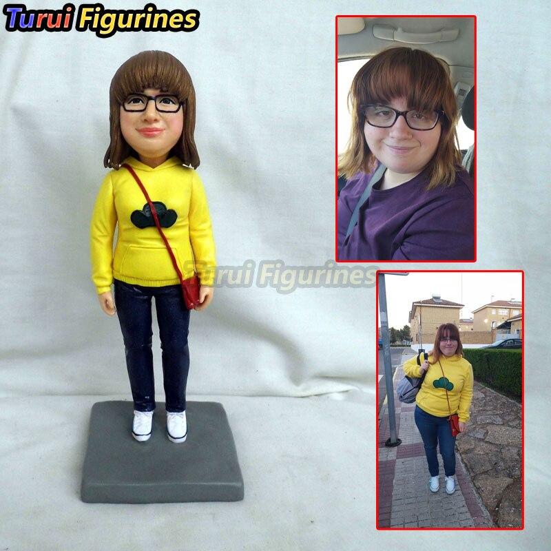 Regali di nozze souvenir personalizzati figurine di argilla Miniature casa delle bambole da la tua foto mini statua wedding cake topper decorazioni