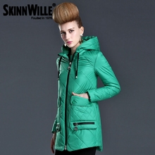 SKINNWILLE2016 New Windbreaker Windproof Jacket Cloak Coat Big Collar Spring Cotton Clothing Cotton padded Coat Women's Clothing