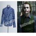 Batman Dark Knight Joker Shirt Cosplay Primavera Camisas de Manga Longa Azul