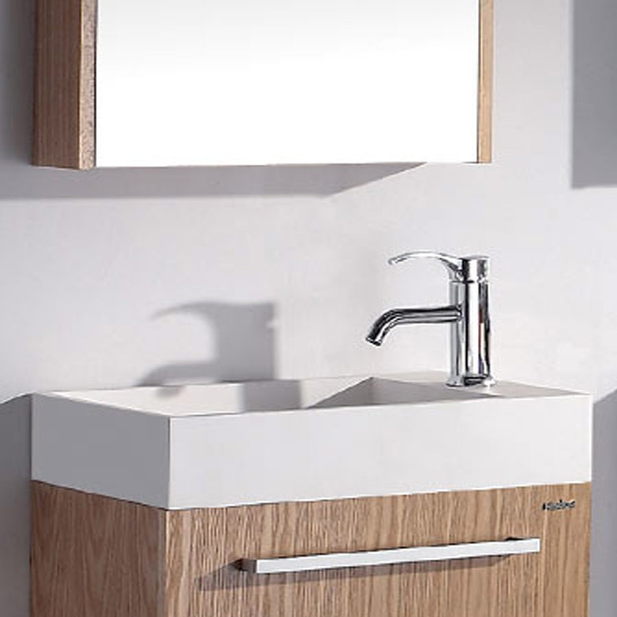 Rectangular bathroom solid surface stone counter top Vessel sink fashionable Corian washbasin RS3848