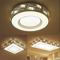 Минималистский круг хрустальные светильники потолочные 36 Вт светодиодные luminarias plafon светодиодный потолочный светильник светильники для сп