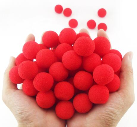10PCS 2.5cm Finger Sponge Ball Magic Tricks Classical Magician Illusion Comedy Close-Up Stage Card Magic Accessories