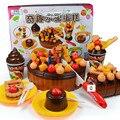 Envío gratis tamaño grande 73 unids/set niño tortas de cumpleaños juguetes / casa de juegos juguetes de cumpleaños pastel de bricolaje montado juguete para niños juguetes de regalo