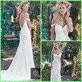 2016 A Line Beaded Bridal Dresses Sexy Backless Princess Wedding Dress Cheap elegant Bohemian Weding Dress Beach Wedding Gowns