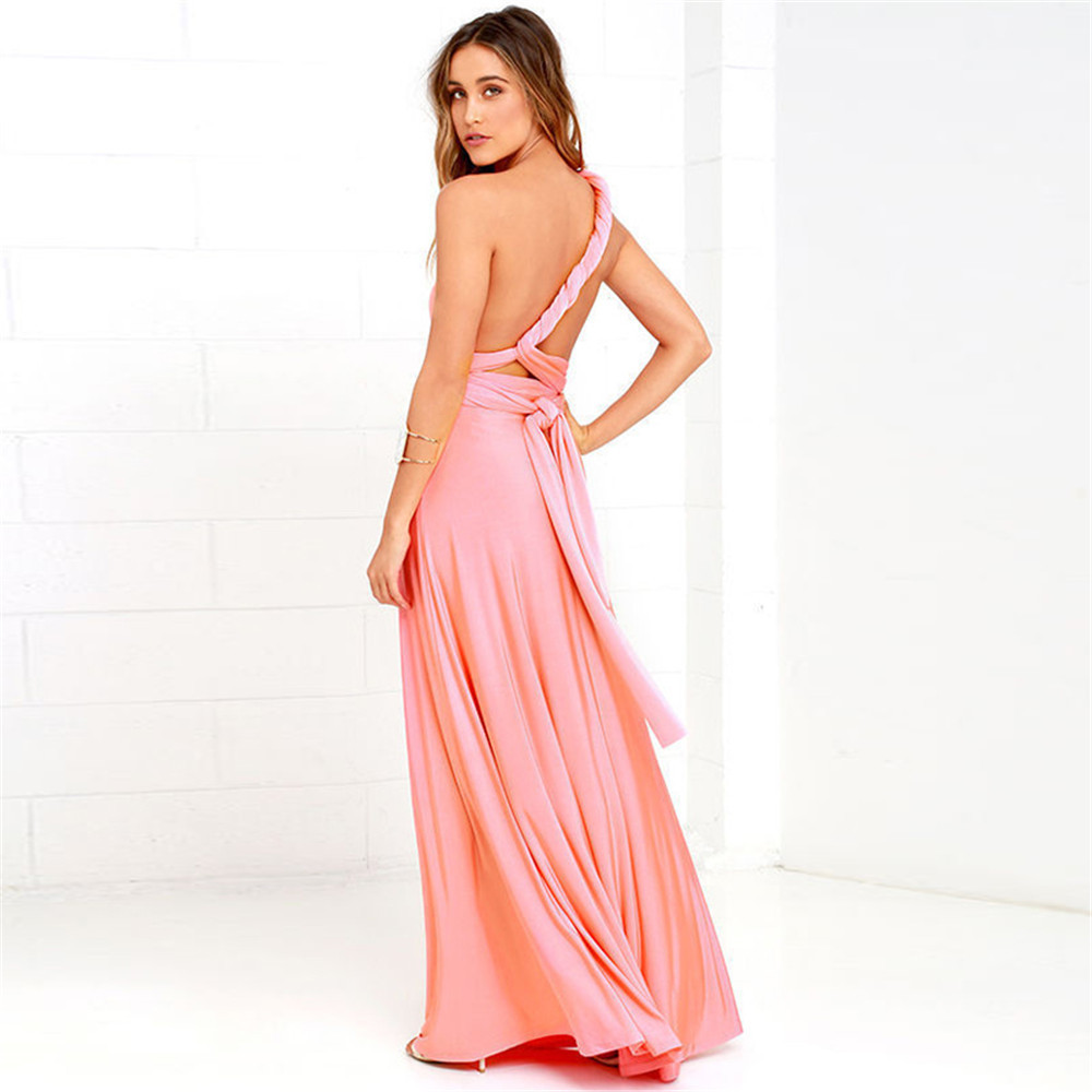 0c7c9fc9ec8b3 US $5.8  High Quality 2019 Long Summer Convertible Bohemian Dresses Casual  Bandage Evening Prom Club Party Infinity Multiway Maxi Dresses-in Dresses  ...