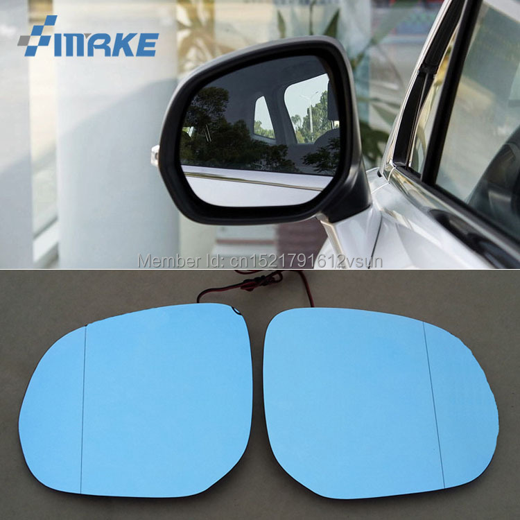 smRKE 2Pcs For Peugeot 3008 Rearview Mirror Blue Glasses Wide Angle Led Turn Signals light Power Heating